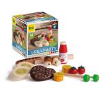 Erzi Sortierung Grill-Party Set, Spielzeug-Sushi, Holz-Spielzeug, Kaufladen-Zubehör