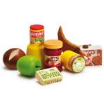 Erzi Sortierung Frühstück, Kaufladenzubehörset, Spielset, aus Holz, Maße 12 x 12 x 6 cm, bunt