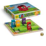 Erzi Spiel Monsterlabyrinth, Holzbrettstrategiespiel für 1 – 4 Spieler, ab 5 Jahren