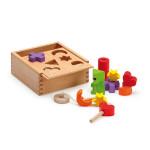 Erzi Steck- und Fädelbox, Formenspiel, Farbenspiel