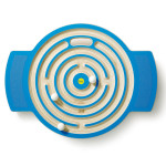 Erzi Trackboard Labyrinth, Balenceboard, Balancierbrett, Balancierspiel, aus Holz, Maße 62 x 47 x 6 cm, blau
