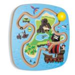 Erzi Wandspiel Piratenschatz, inkl. Montageset zur Wandbefestigung, aus Holz, Maße 39 x 39 x 7 cm, ab 2 Jahren