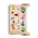 Erzi Wandspiel Schieberätsel Tiere, aus Holz, Maße32 x 57,5 x 15 cm, ab 2 Jahren