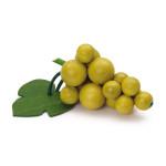 Erzi Weintraube, grün, Spielzeug-Weintrauben, Holzweintrauben, Kaufladenzubehör