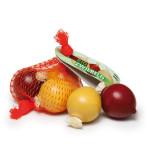 Erzi Zwiebeln im Netz, Spielzeug-Zwiebeln, Holz-Zwiebeln, Kaufladenzubehör