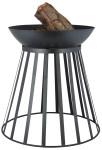 Esschert Design 2in1 Feuerschale/ -korb, 47 x 47 x 49 cm, aus Metall, umdrehbar, in schwarz