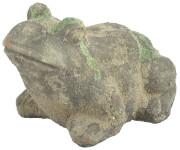 Esschert Design AC Frosch Moos aus Terracotta, 17,0 x 12,9 x 11,0 cm, vermoost, Gartendekoration, Dekofrosch, Gartenfigur, ca. 1 kg