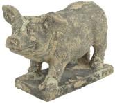Esschert Design AC Schwein Moos aus Terracotta, 28,5 x 14,5 x 18 cm, vermoost, Gartendekoration, Dekoschwein, Gartenfigur, ca. 2,75 kg