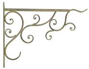 Esschert Design Aged Metal Grün Haken aus veraltetem Metall, 34,5 x 2,2 x 26,3 cm