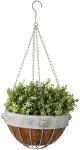 Esschert Design AM Löwe Hanging Basket, 26,2 x 26,2 x 16 cm, aus Aged Metall, hängend, antikes Metall, in grau
