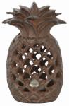 Esschert Design Ananas Laterne, 9,7 x 9 x 15 cm, aus Gusseisen, mit Sichtlöchern, stabiler Stand, Teelicht