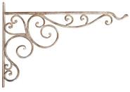 Esschert Design Antik Wandhaken, Wandhalterung, Haken für Blumenampel, Landhaus Stil, Tiefe: ca. 35 cm, Höhe: ca. 25 cm