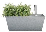 Esschert Design Balkonkasten m. Haken, 40 x 15 x 15 cm