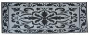 Esschert Design Balkonteppich 70x200cm s/w, 72 x 197 x 0,8 cm