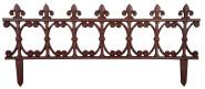 Esschert Design Beetzaun Klassik, breiter Zierzaun aus Gusseisen, 82 x 36 cm, Beet Abgrenzung mit Erdspieß