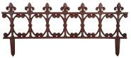3 Stück Esschert Design Beetzaun, Zierzaun, breit, aus rötlichem Gusseisen, ca. 82 cm x 36 cm