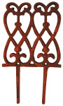 Esschert Design Beetzaun, Zierzaun, hoch, aus rötlichem Gusseisen, ca. 15 cm x 28 cm
