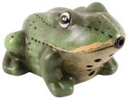 Esschert Design Bewegungsmelder Frosch, begrüßt Gäste mit quaken, aus Keramik, handbemalt, inkl. Batterien, ca. 15 cm x 12 cm x 8,7 cm