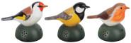 2 Stück Esschert Design Bewegungsmelder Vogel aus Keramik, inkl. Batterien, sortiert, 16 cm x 9,2 cm x 12 cm