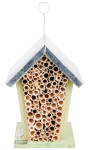 Esschert Design Bienenhaus, Insektenhaus mit Metalldach zum Aufhängen oder Aufstellen, ca. 15,2 cm x 12,7 cm x 20 cm