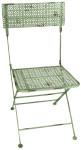 Esschert Design Bistro Gartenstuhl, Balkonstuhl im Vintage Stil, kappbar, mit eckiger Sitzfläche, ca. 44 cm x 50 cm x 88 cm
