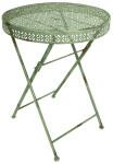 Esschert Design Bistro Tisch im Vintage Stil, rund, ca. 59 cm x 59 cm x 76 cm
