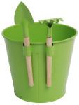 Esschert Design Blumentopf mit Mini-Tools (Schaufel und Rechen) für Kinder, ca. 16 cm x 17 cm x 18 cm