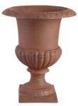 2 Stück Esschert Design Blumentopf, Übertopf Französische Vase, Amphore auf Sockel, Größe L, ca. 31 cm x 31 cm x 43 cm