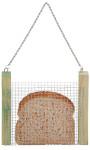 Esschert Design Brotscheibenkorb, Halterung für Brotscheiben, Futterhalter, Vogelfutter mal anders! Hängend, Maße 17 x 2 x 17 cm