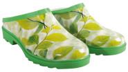 Esschert Design Clogs, Pantoletten mit Motiv Ulmenblätter in grün, Größe 36 - 37