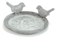 Esschert Design Deko-Teller, Topfuntersetzer mit Vogelmotiv, Dekoteller,  rund, max. Topf Ø 10 cm, verschiedene Farben