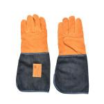 Esschert Design Denim Gartenhandschuhe lang aus Denim (80% Baumwolle/20% Polyester)/Schweineleder, 16,8 x 1,2 x 36,4 cm,