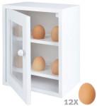 Esschert Design Eierschränkchen aus Kiefernholz und Metall, 21,7 x 16,7 x 26,3 cm