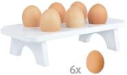 Esschert Design Eierträger aus Kiefernholz, 26,6 x 13,0 x 6,4 cm