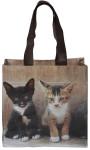 Esschert Design Einkaufstasche mit Griffen, Motiv mit zwei Kätzchen, Größe S, 25,0 x 9,5 x 24 cm, aus Polyester