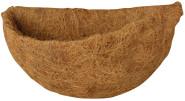 Esschert Design Ersatzeinlage für Halbrundkorb, 33 x 18 x 17 cm, halbrunde Kokoseinlage, Hängekorb, Naturkorb