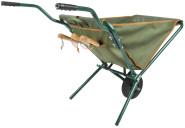 Esschert Design Faltbare Schubkarre, Eisengestell mit Polyesterbehälter, 69 x 107 x 73,2 cm, mit Gummi-Rad, Gartenbedarf, Gartenwerkzeug
