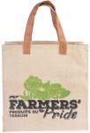 Esschert Design Farmers' Pride Einkaufstasche aus Jute, PE und PU, 38,5 x 15,0 x 38,5 cm