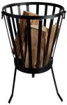 Esschert Design Feuerkorb, Feuerschale, Feuerstelle, feuerfestes Eisen, Ø ca. 35, Höhe ca. 57 cm