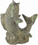 """Esschert Design """"Fisch"""" Moos, aus dem Material """"Terracotta"""", 35,8 x 16,0 x 42,5 cm"""
