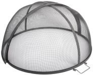 Esschert Design Funkenschutzgitter, aufklappbar, Funkenschutz, Funkenschutzhaube, Funkenhaube, Durchmesser: ca. 60 cm, Höhe: ca. 33 cm