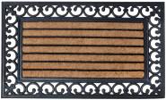 Esschert Design Fußmatte aus Gummi/Kokos-Einlage, rechteckig, 76 x 45 cm in schwarz