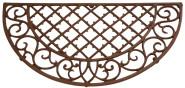 Esschert Design Fußmatte, Fußabstreifer, Türmatte, Form: halbrund, Material: Gusseisen, Maße: ca. 67 x 34 cm