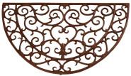 Esschert Design Fußmatte, Schmutzfangmatte, Fußabtreter, Fußabstreifer, Optik: antik, halbrund, Gusseisen, Maße 68,5 x 40 cm