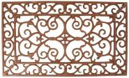 Esschert Design Fußmatte, Türmatte, Fußabtreter, antikes Design, Gusseisen, Farbe: rot-braun, ca. 60 x 35 cm