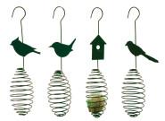 2 Stück Esschert Design Futterfeder, Vogelfutter-Spirale, Halterung für Futterball, Futterkugel, sortiert, ca. 9,8 cm x 7,7 cm x 35,2 cm