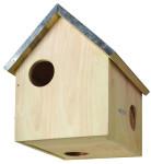 2 Stück Esschert Design Futterhaus, Futterstation für Eichhörnchen mit Metalldach, drei Eingänge, ca. 25,3 cm x 26,3 cm x 29 cm