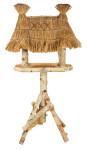 Esschert Design Futterhaus, Vogelhaus aus Birke auf Ständer