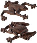 Esschert Design Gartenfigur, Skulptur Frosch aus Gusseisen, 1 Stück, sortiert, ca. 14 cm x 12 x 1,7 cm