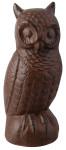 Esschert Design Gartenfigur, Skulptur Motiv Eule aus Gusseisen, Größe L, ca. 9 cm x 9,2 cm x 21 cm